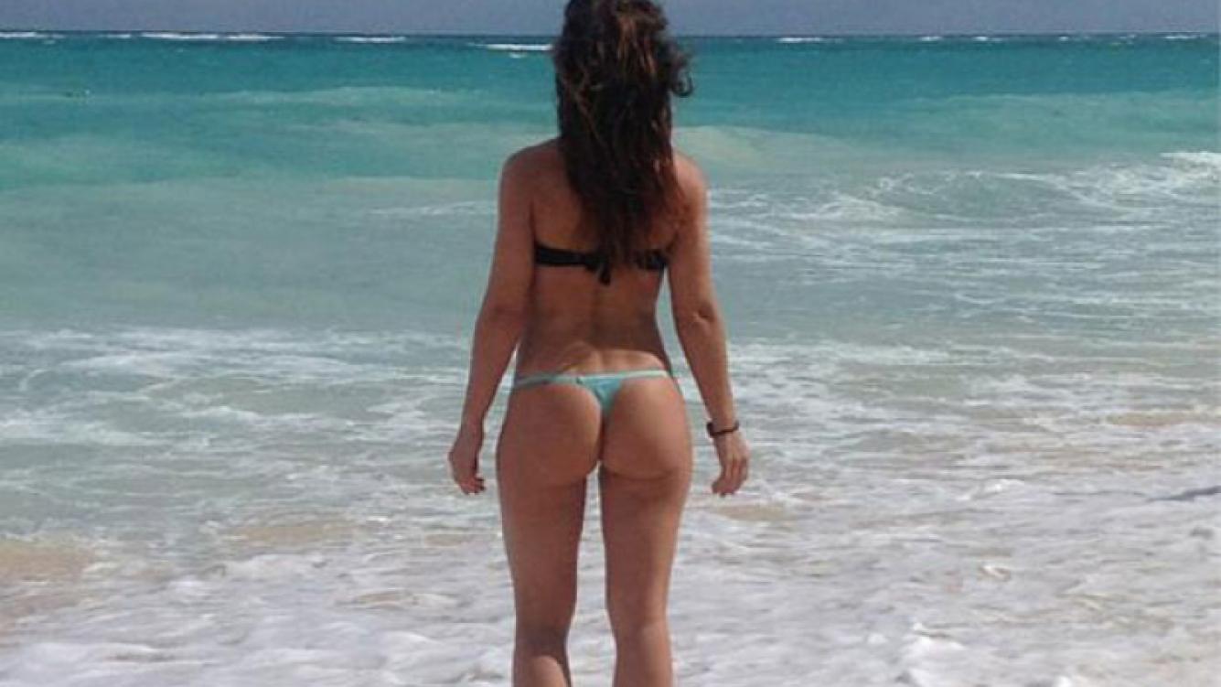 Mariana Brey lució su lomazo en las playas de Punta Cana (Foto: Twitter).