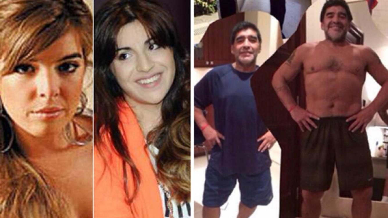 Gianinna y Dalma Maradona defendieron a su papá en Twitter. (Fotos: Web y Twitter)