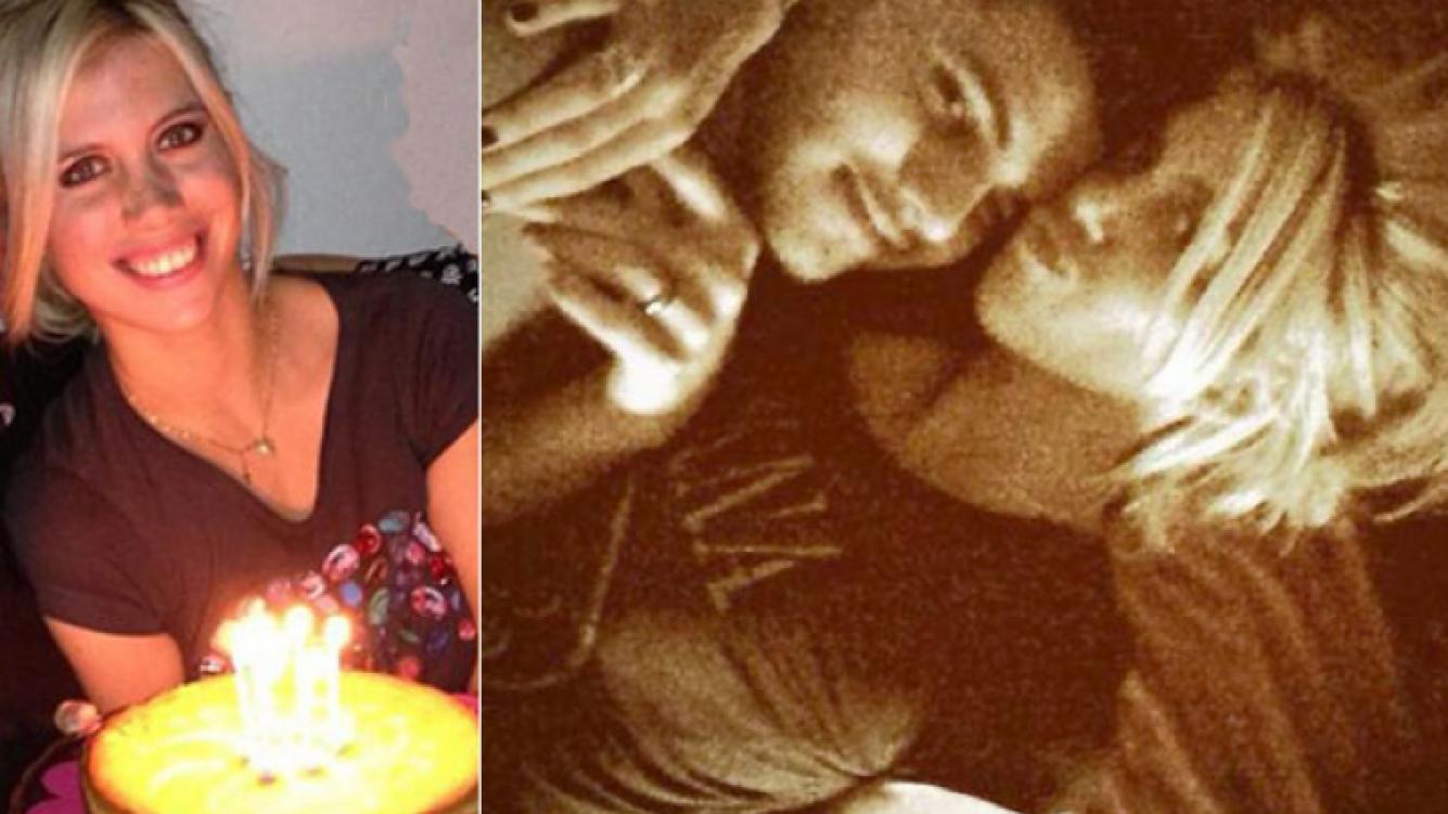 El saludo de cumpleaños de Icardi a Wanda (Fotos: Twitter)