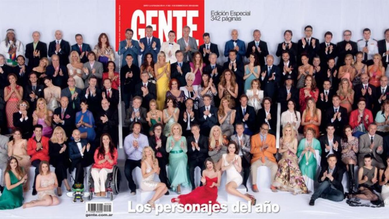 El detrás de la tapa de los Personajes del Año de revista Gente.
