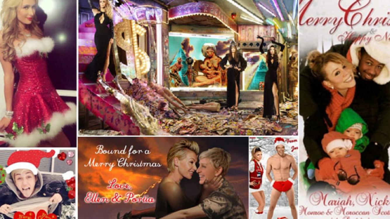 Las postales navideñas de los famosos de Hollywood. (Foto: Web)