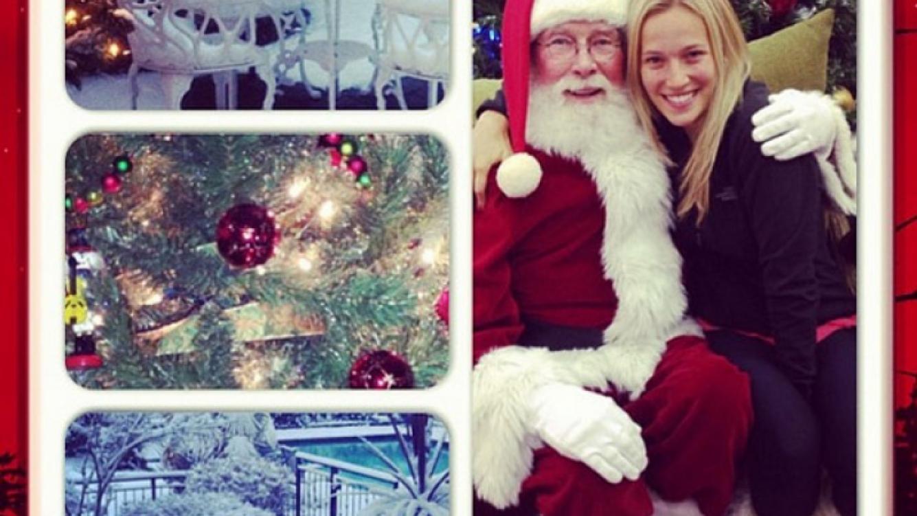 Las postales navideñas de Luisana Lopilato en Canadá. (Foto Instagram)