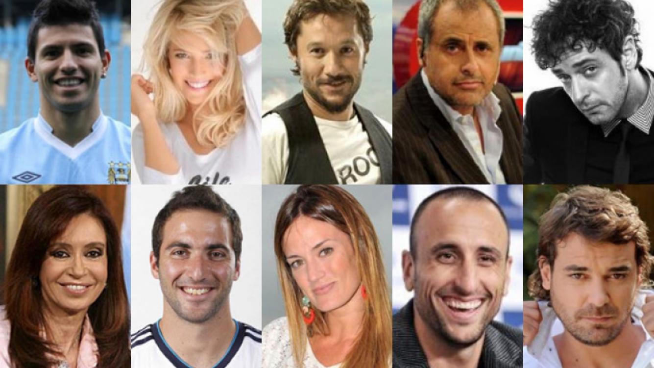 Los 10 argentinos más seguidos en Twitter del 2013.