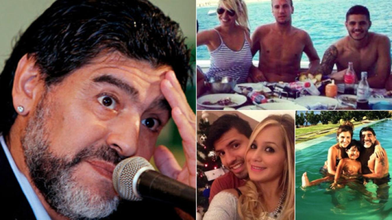 Maradona le pegó a Icardi, aclaró que no tiene problemas con el Kun Agüero y habló de su familia. (Fotos: Web)