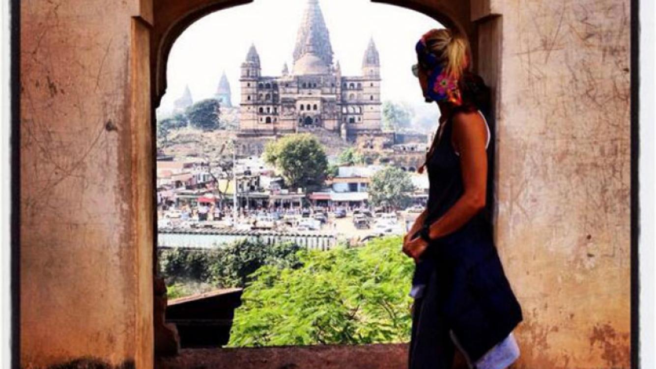 Las postales de Eugenia Tobal, en la India (Foto: Twitter)