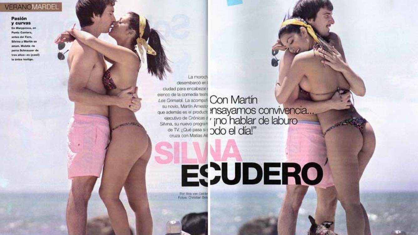 Silvina Escudero y Martín Amestoy, fogosos en Mar del Plata. (Foto: Revista Gente)
