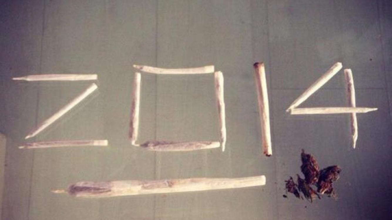 La polémica foto de Federico Bal para recibir el Año Nuevo. (Foto: @balfederico)