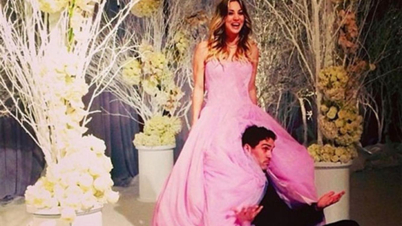 Kaley Cuoco: la actriz de The Big Bang Theory… ¡Se casó en fin de año y de rosa! (foto: Instagram)