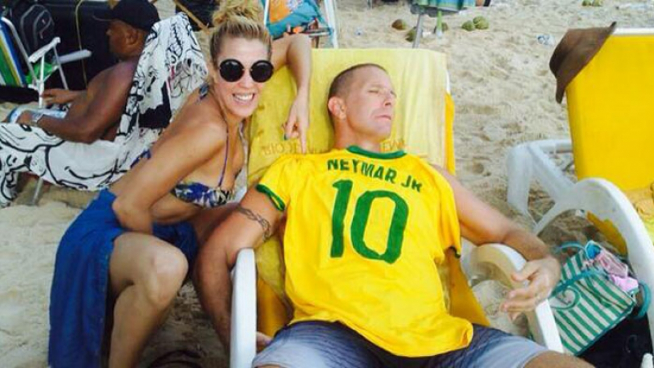 Alejandro Fantino, un (involuntario) hincha brasileño. (Foto: Twitter)