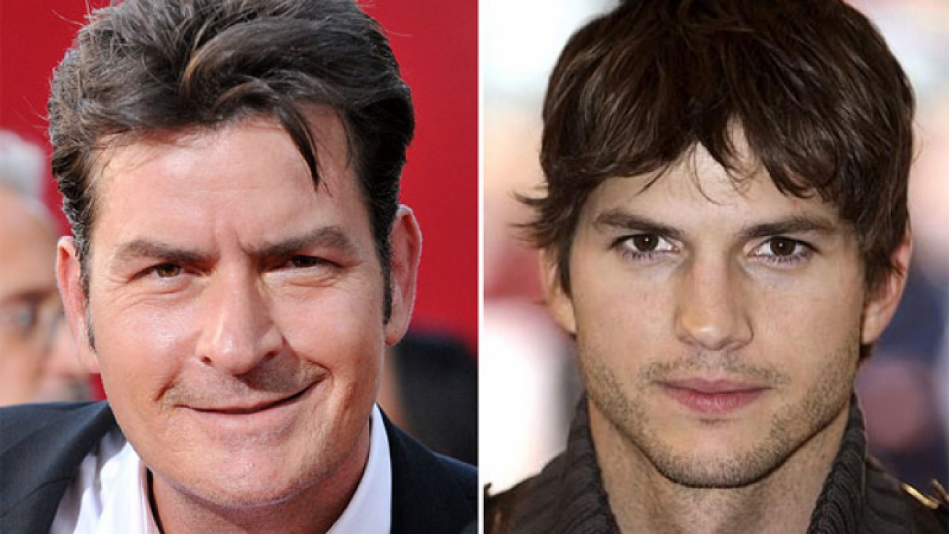 Charlie Sheen destrozó a Ashton Kutcher por Two and a Half Men y lo llamó inepto. (Foto: Web)