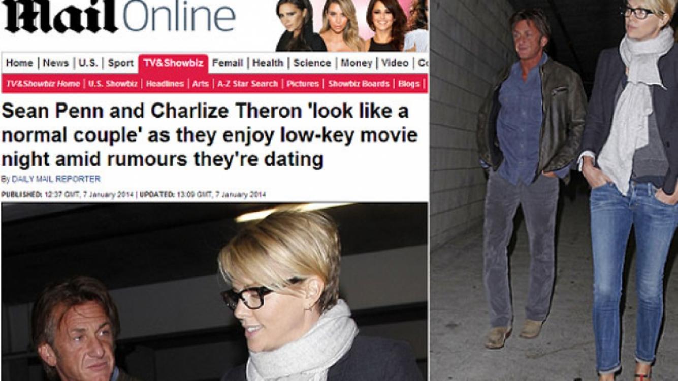 Sean Penn y Charlize Theron: ¿de novios? (Foto: Daily Mail)