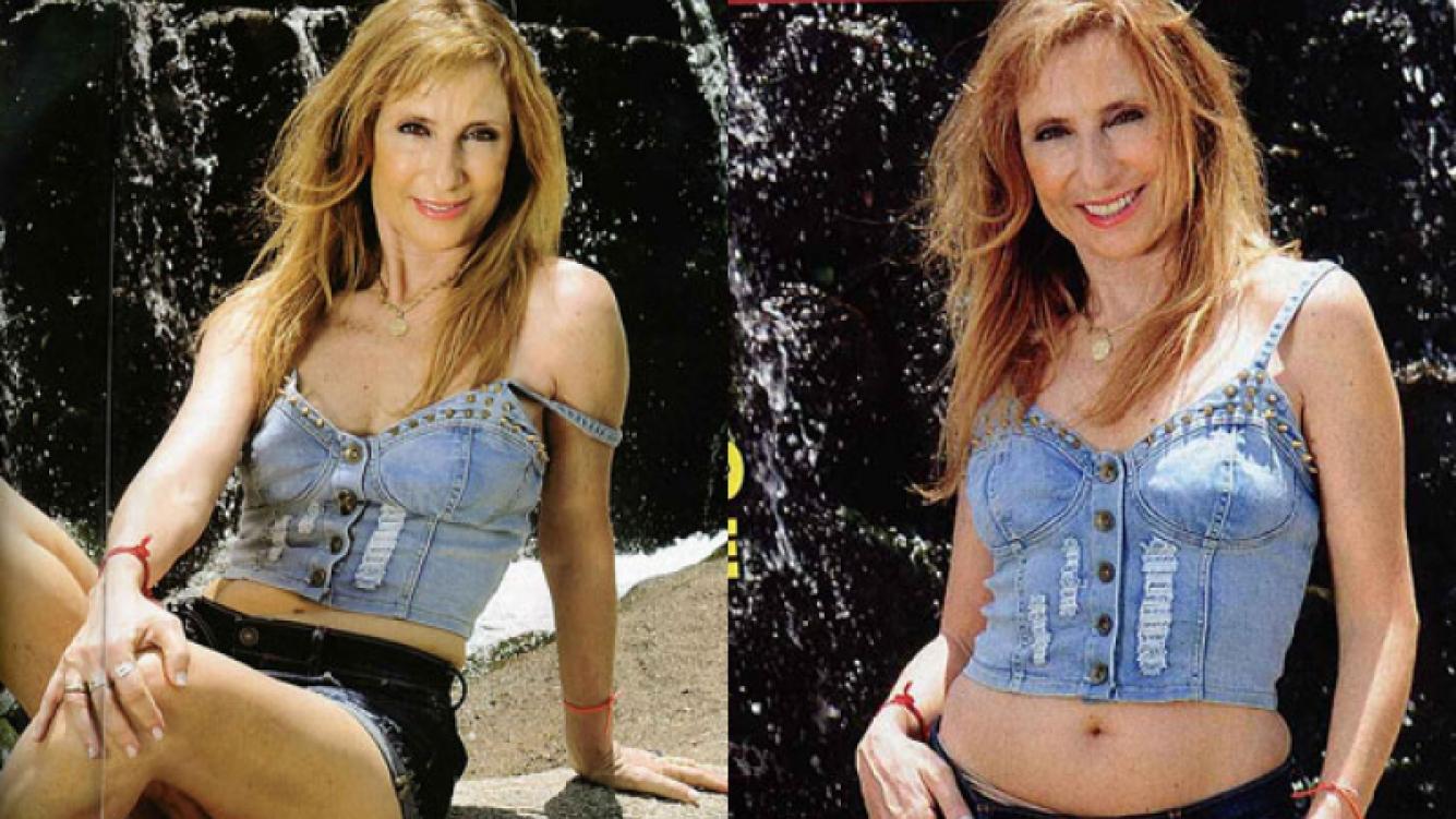 Gladys Florimonte posó sensual desde Villa Carlos Paz (Foto: Pronto).