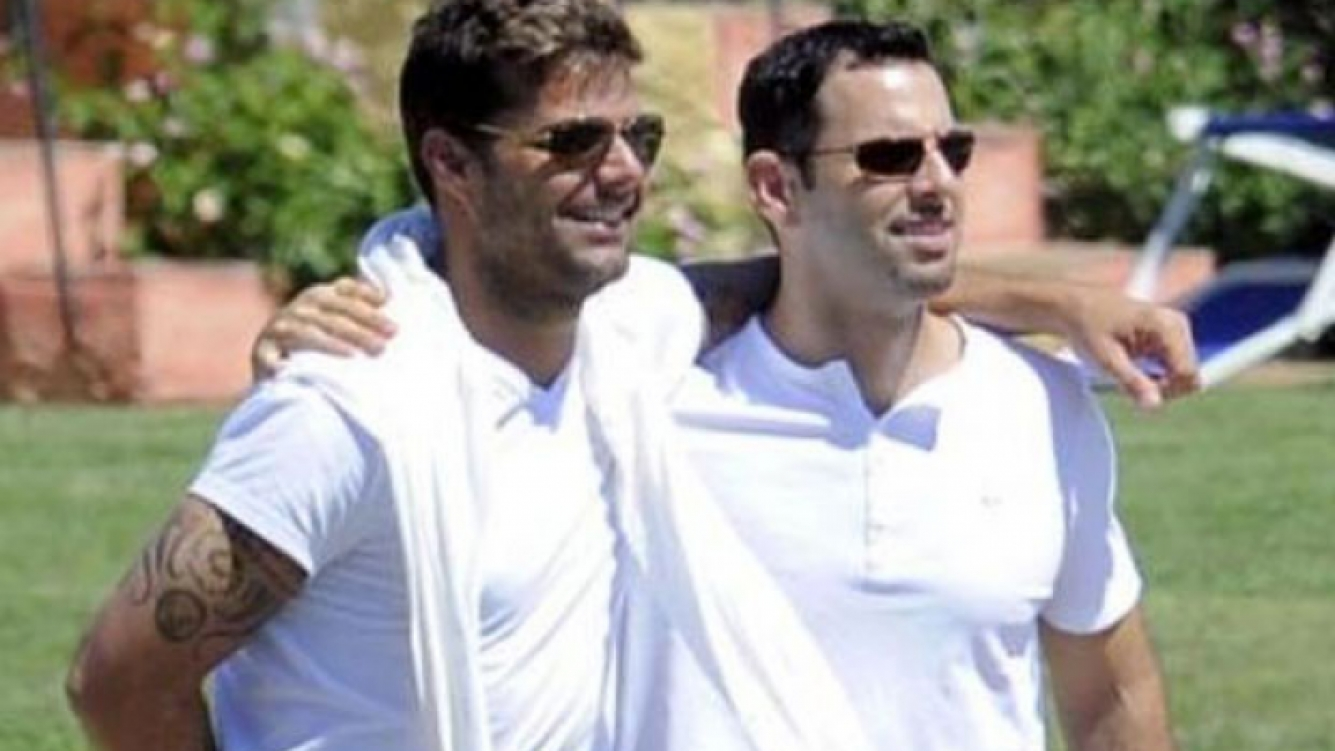 Ricky Martin Carlos Gonzalez Pareja De Ricky Martin...