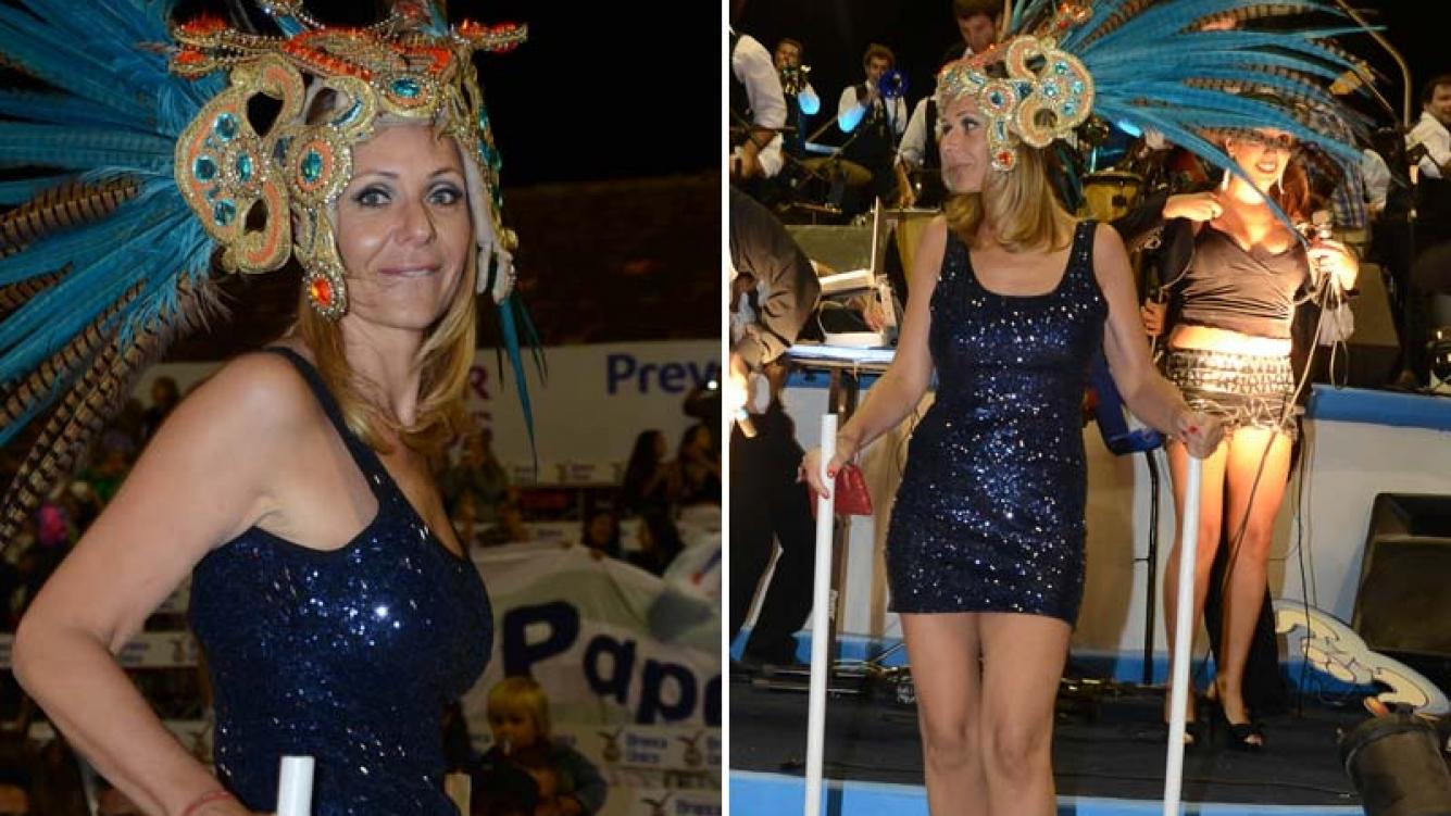 Evelyn Von Brocke en el Carnaval de Gualeguaychú.