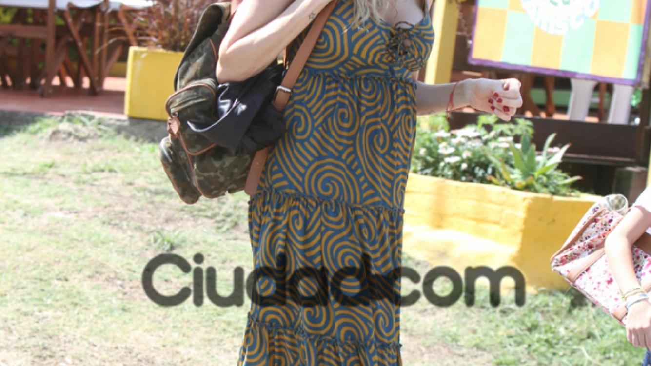 Guillermina Valdés, hippie chic en Punta. (Foto: TM Press)