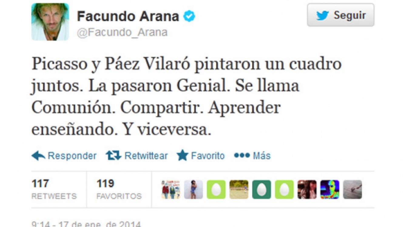 La respuesta de Facundo Arana a Julio Chávez. (Captura: @Facundo_Arana)