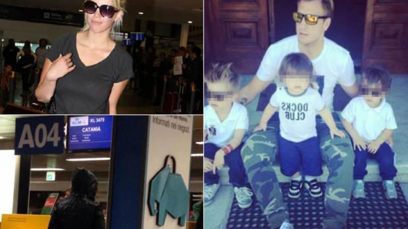 Wanda Nara viajó a Catania para reencontrarse con sus hijos. (Fotos: archivo Web y Twitter)