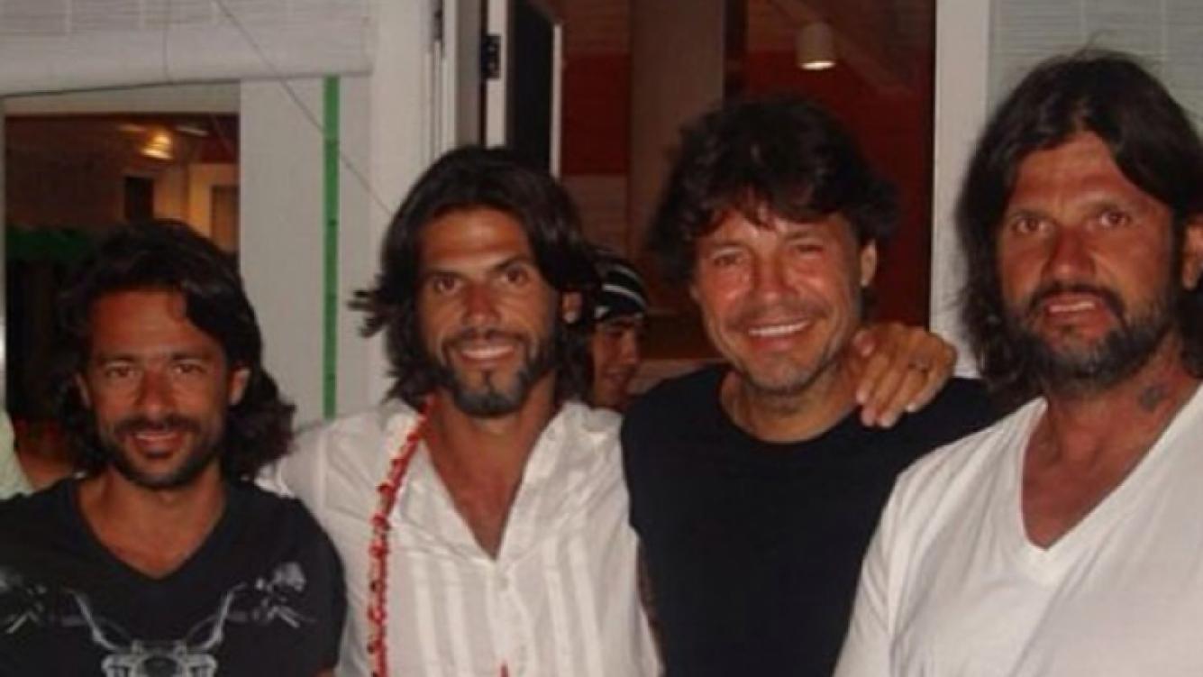 Una postal de la amistad de Tinelli, Fede Ribero y Hernán de Laurente (Foto: Twitter).