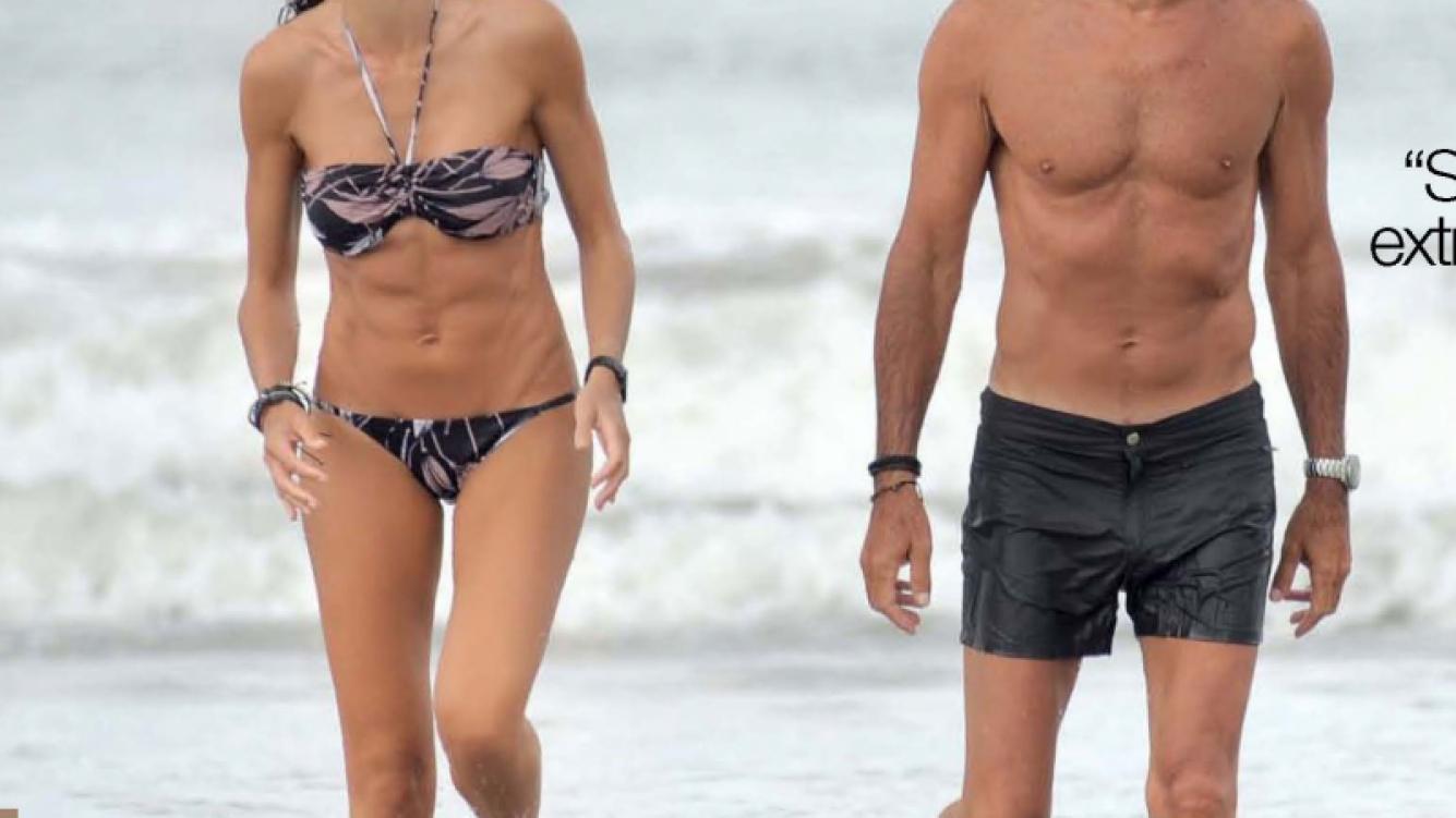 Nico Repetto y Florencia Raggi en Mar del Plata. (Foto: revista Gente)