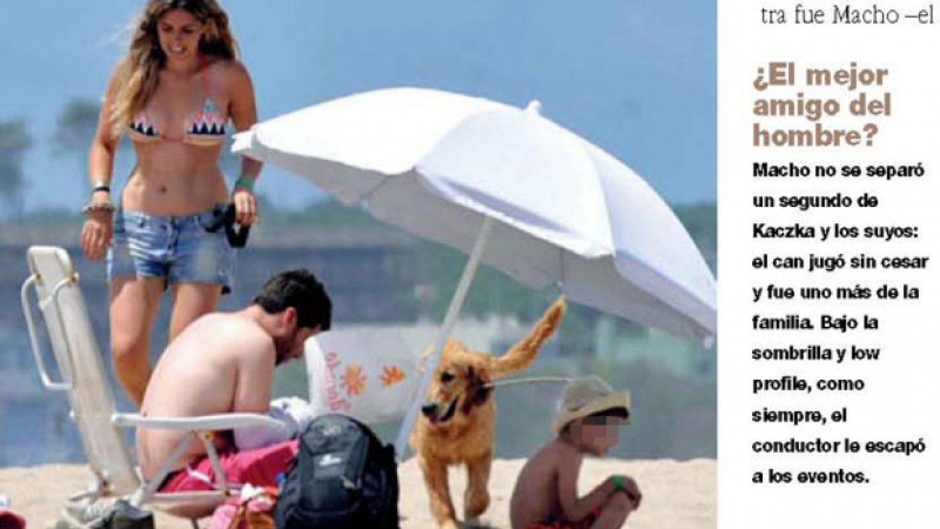 Guido, su novia, Romeo y Macho disfrutaron de las playas esteñas (Foto: Gente).