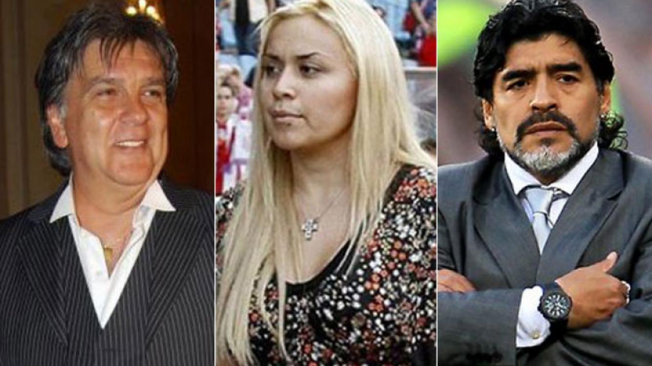 Luis Ventura, Verónica Ojeda y Diego Maradona. (Fotos: Web)