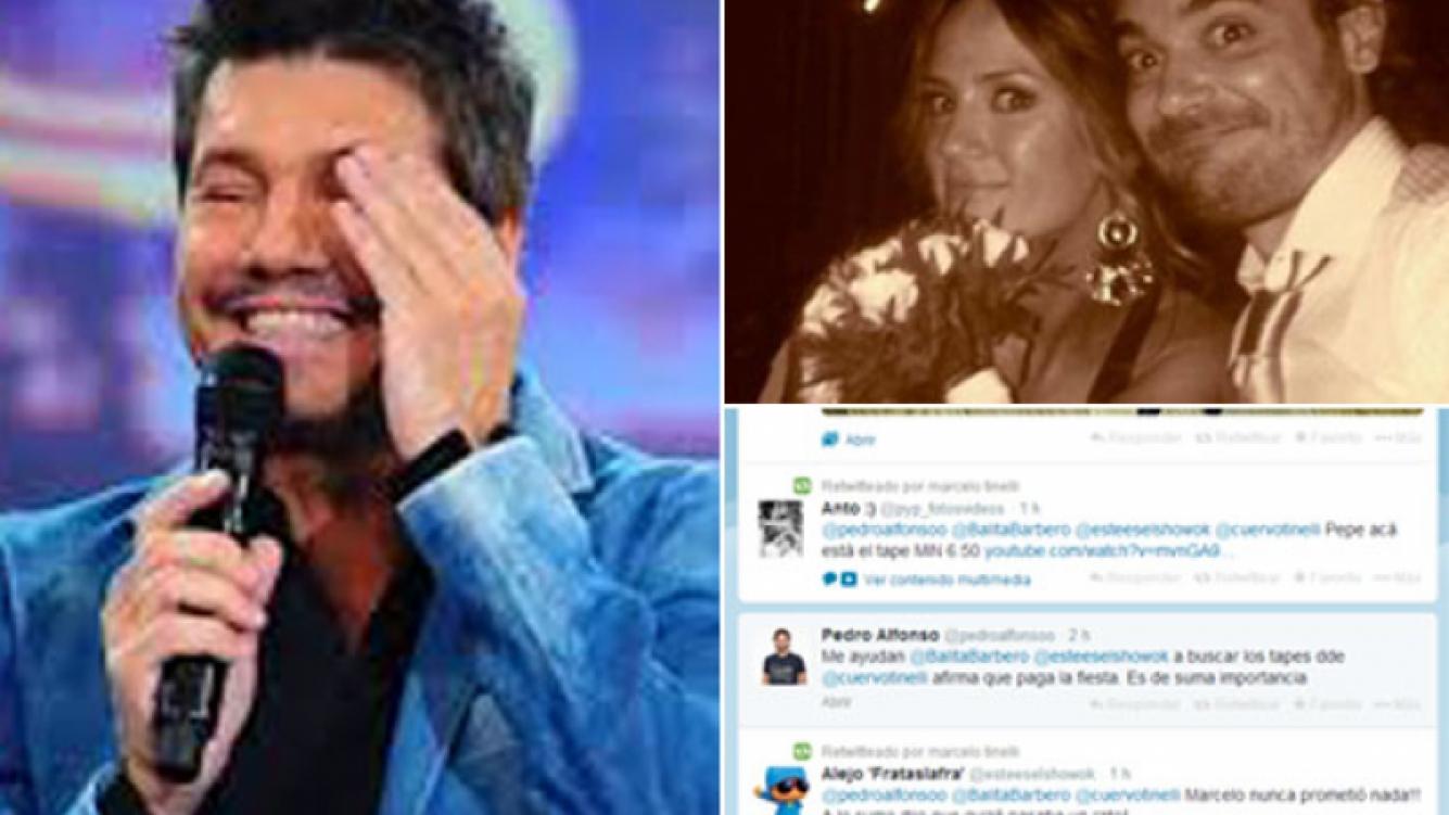 El divertido cruce tuitero entre Tinelli y Peter por el casamiento de PyP. (Fotos: Web y Twitter)