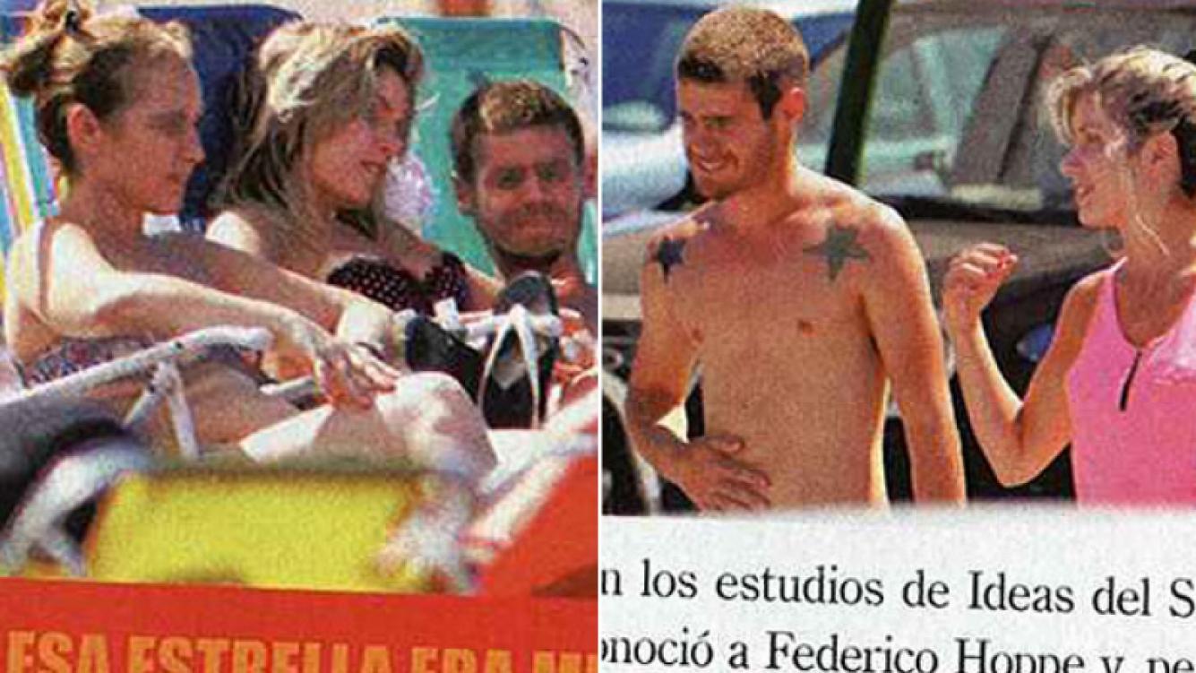 Gastón Soffritti y Laurita Fernández, en Mardel. (Fotos: revista Paparazzi)