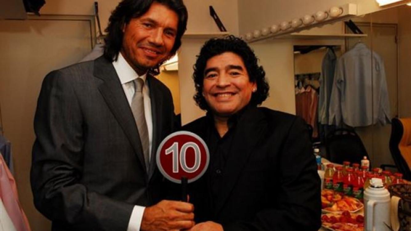 Tinelli y Maradona en una imagen actual. (Foto: Web)