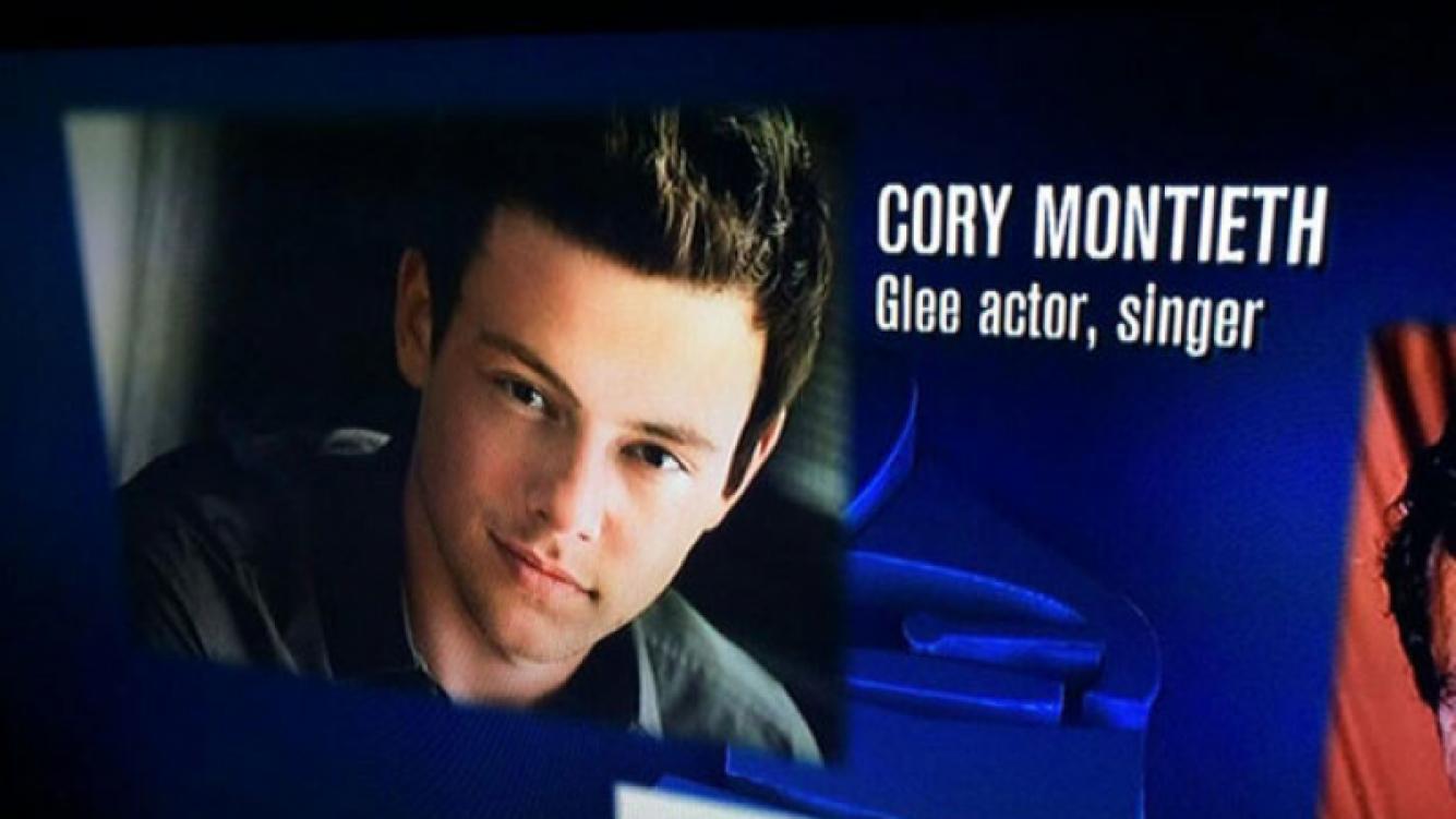 Cory Monteith: papelón en el homenaje al fallecido actor durante los Grammy 2014 al escribir mal su nombre. (Foto: Web)