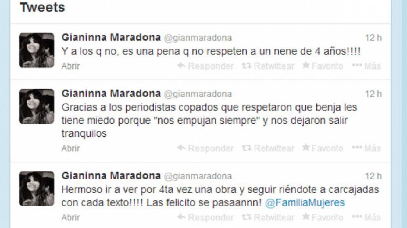Los tweets de Gianinna después del encuentro con la prensa (Foto: Captura).