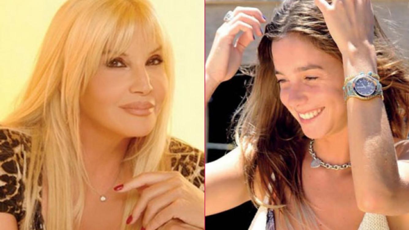 Susana Giménez y su nieta, Lucía Celasco. (Fotos: Web y revista Gente)