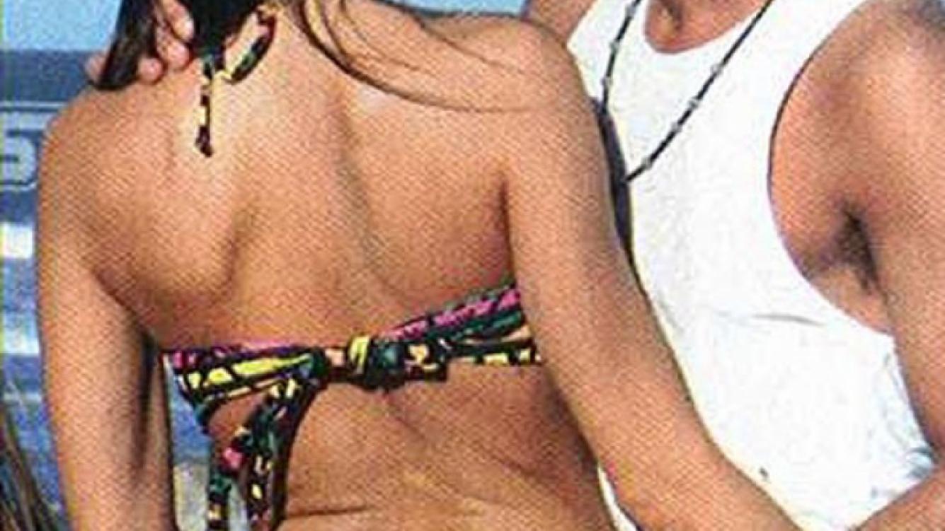 Hernán Caire, mimos apasionados con su nueva novia. (Foto: revista Pronto)