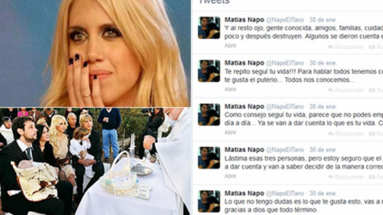 El Tano destrozó a Wanda Nara vía Twitter. (Fotos: Web y Twitter @NapoElTano)