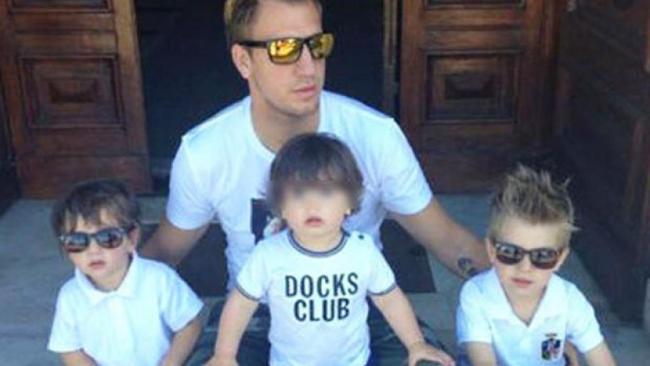 Maxi López y sus tres hijos. (Foto: Web)