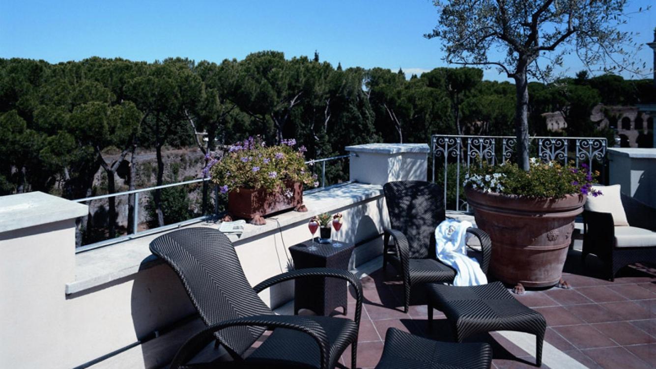 El lujoso hotel donde Maradona celebró su compromiso. (Foto: Web)