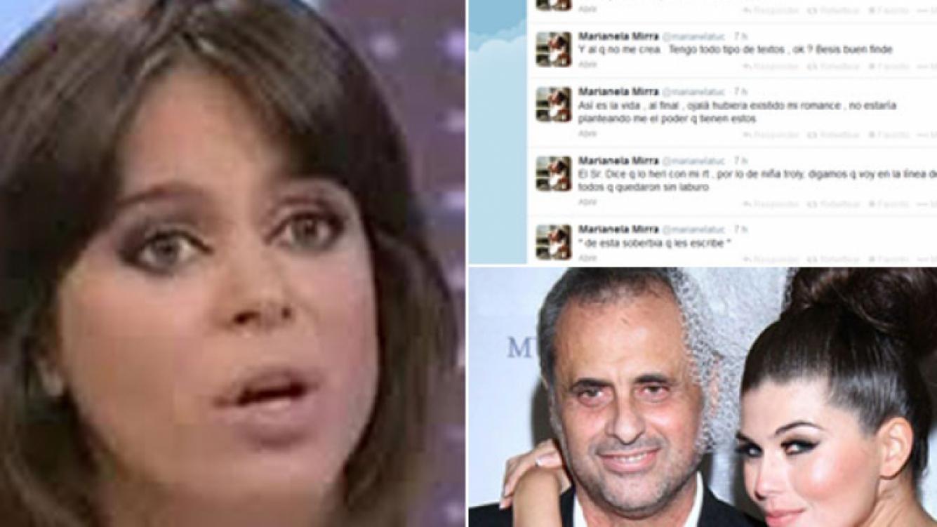 Marianela Mirra explotó contra Jorge Rial y Loly Antoniale. (Fotos: Captura TV, Twitter y Web)