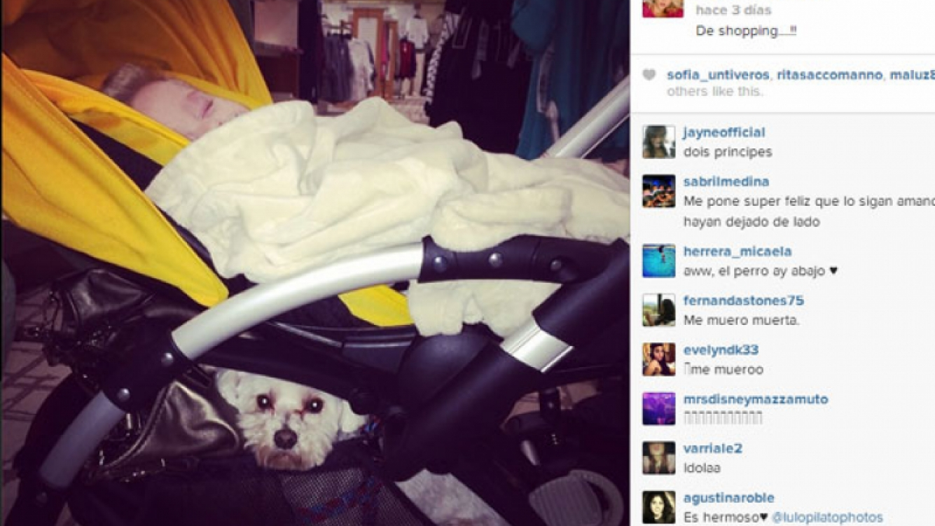 Luisana Lopilato publicó tiernas postales de su hijo y su mascota (Foto: Instagram),.