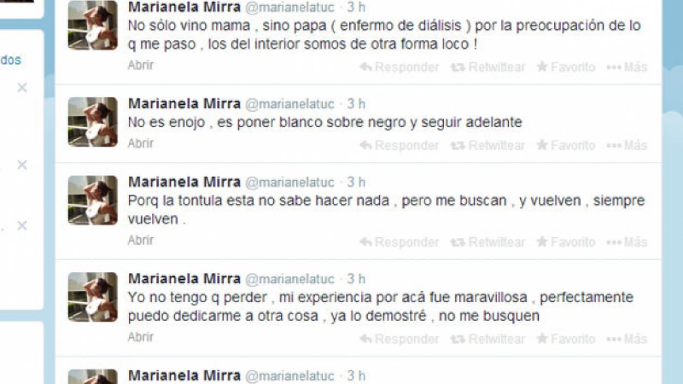 Marianela Mirra volvió a apuntar contra Rial (Foto: Captura).