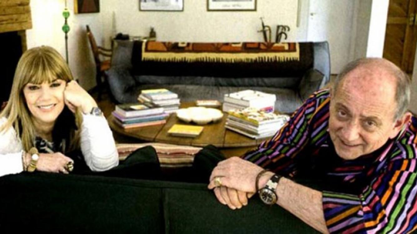 Chiche Gelblung, junto a su mujer Cristian Seoane. (Foto: archivo Web)