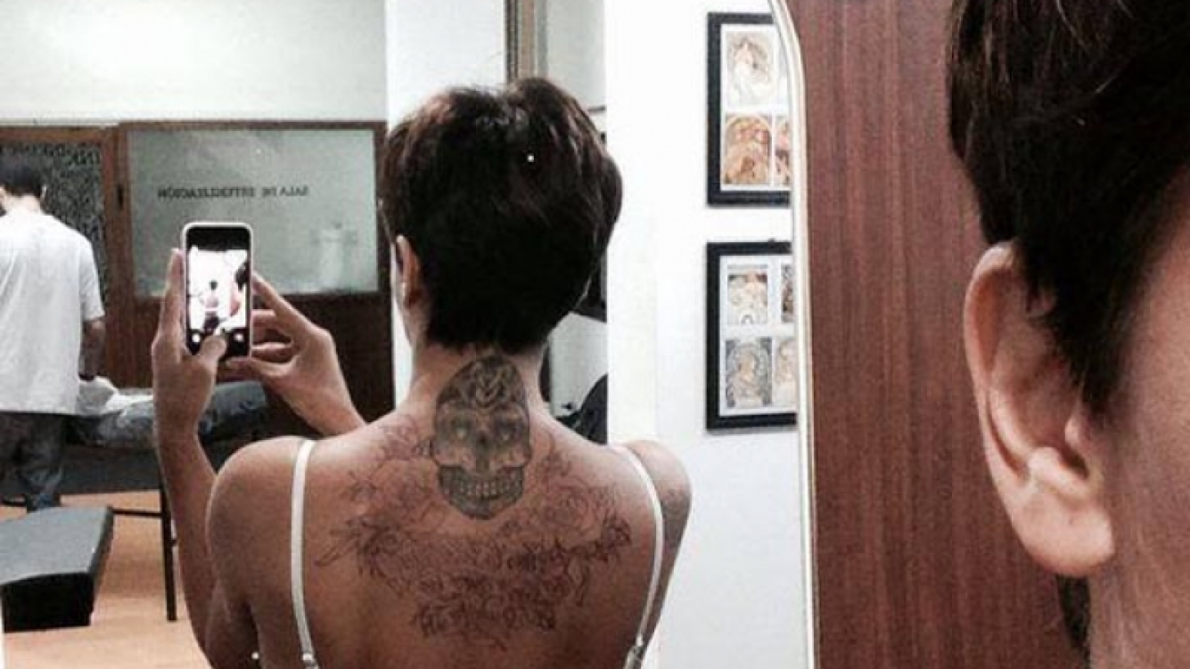 El nuevo tatuaje de Granata. (Twitter)