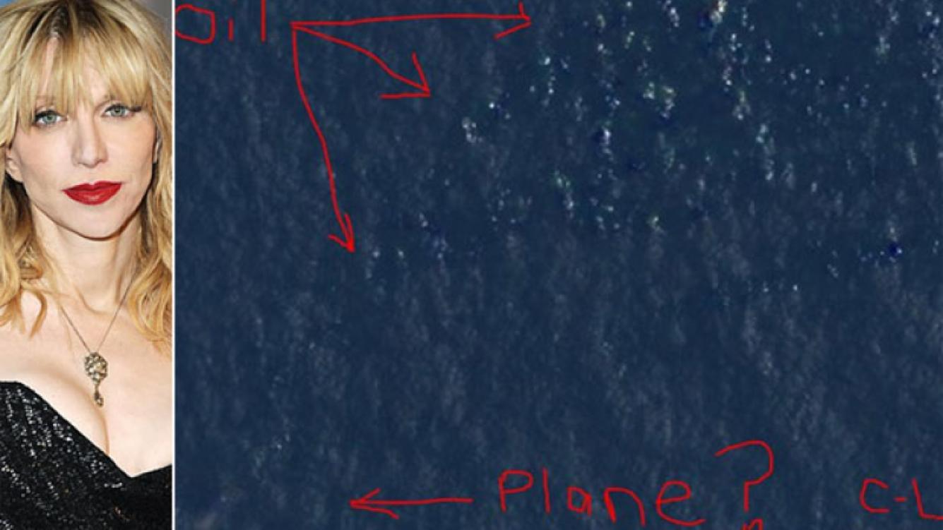 Courtney Love publicó en Twitter su teoría del avión desaparecido. (Foto: Web/ @Courtney)