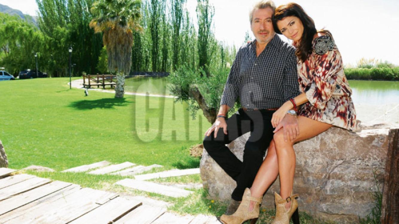 La increíble estancia de Pamela David y Daniel Vila, en Mendoza. (Foto: revista Caras)