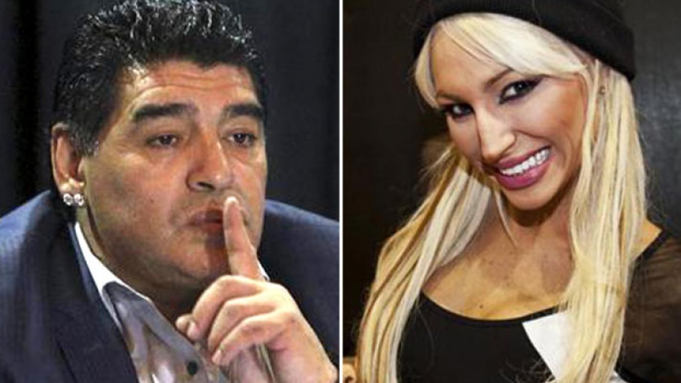 Diego Maradona y Victoria Xipolitakis. (Fotos: Web)