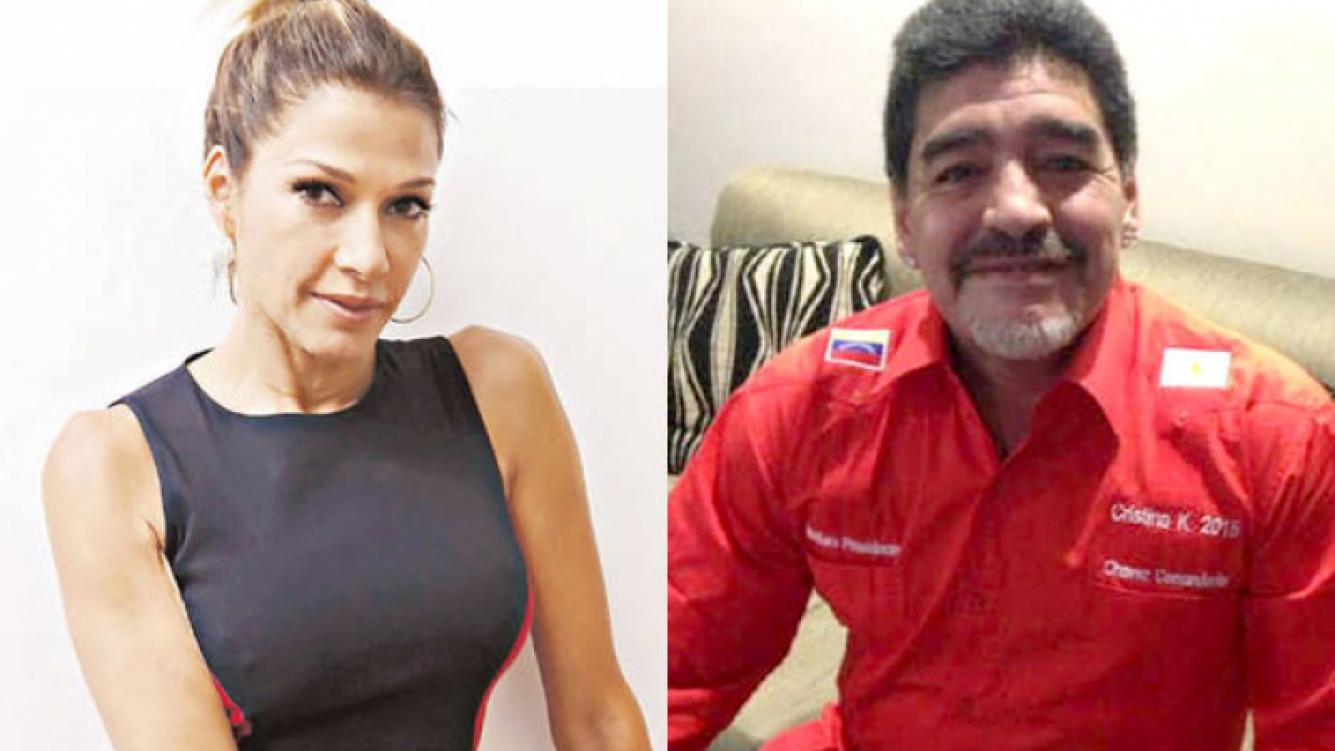 Fulop, dura con Maradona. (Fotos: Web)