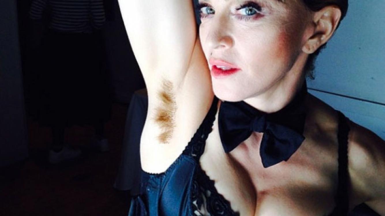 Madonna muestra en Instagram una foto de su axila sin depilar. (Foto: Instagram)