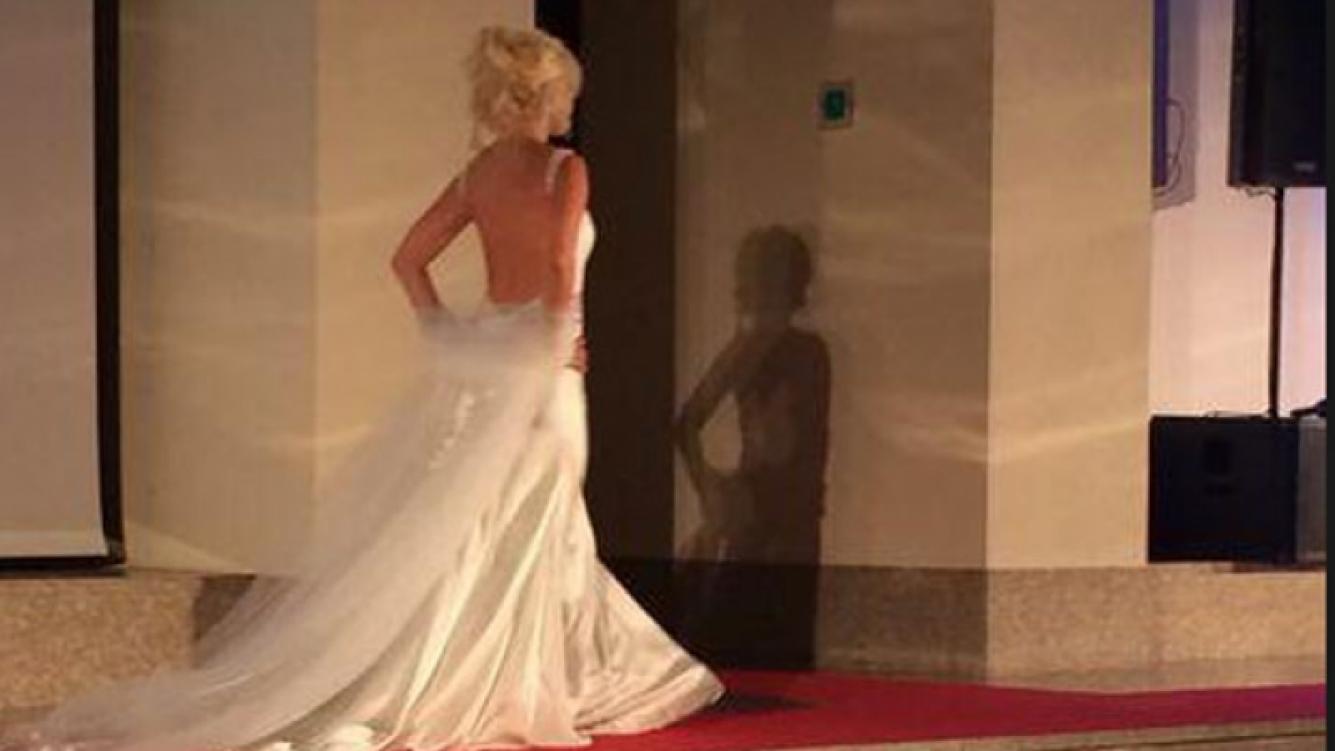 Wanda Nara se probó el vestido de novia. (Foto Twitter @wanditanara)