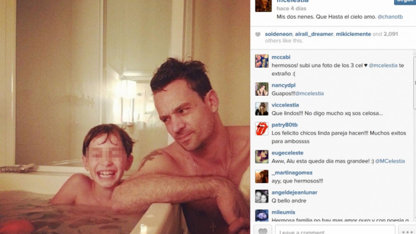 Chano con André, el hijo de Celeste Cid. (Foto: Instagram/mcelestia)