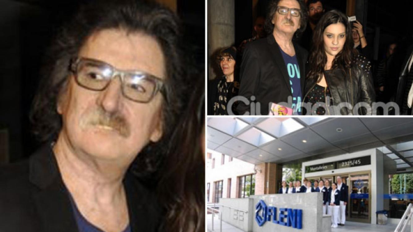 Charly García, internado en Fleni. (Fotos: Ciudad.com y Web)