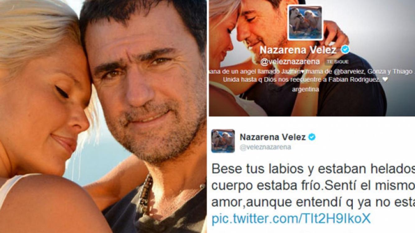 El desgarrador tweet de Nazarena Vélez. (Fotos: Twitter)