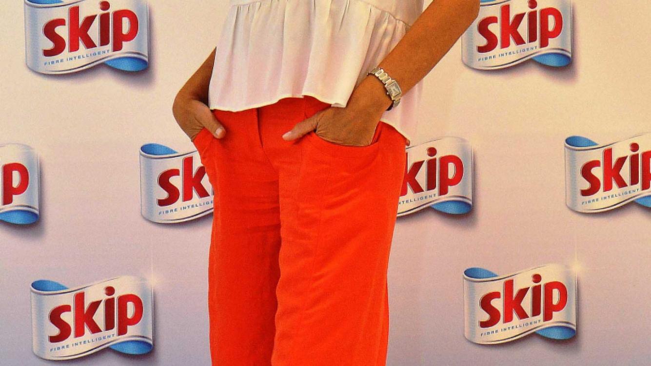 Andrea Frigerio en la presentación de la última campaña de Skip.